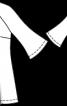 Туніка з рукавами-розтрубами - фото 3