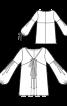 Туніка зі складками і пишними рукавами - фото 3