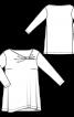 Туніка з асиметричною горловиною і драпіровкою - фото 3
