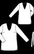 Туніка прямого крою з глибокими вирізами - фото 3
