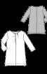 Блузка прямого силуету з драпіровками - фото 3