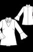 Туніка приталеного крою з коміром-стійкою - фото 3
