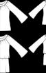 Туніка з розкльошеними рукавами реглан - фото 3