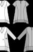 Туніка А-силуету з асиметричним низом і довгими рукавами - фото 3