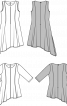 Туніка з рукавами 3/4 і асиметричним низом - фото 3
