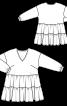 Туника широкого кроя с укороченными рукавами - фото 3