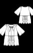 Туника силуэта ампир с рукавами-крылышками - фото 3