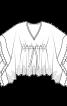 Туніка оригінального крою силуету ампір - фото 3