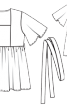 Туніка силуету ампір з поясом - фото 3