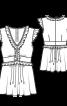 Туніка силуету ампір з оборками - фото 3