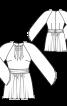 Туніка приталеного крою з рукавами реглан - фото 3