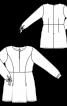 Туніка відрізна із зав'язками на рукавах - фото 3