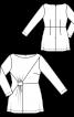 Туніка з асиметричною драпіровкою - фото 3