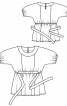 Туніка приталеного крою з короткими рукавами - фото 3