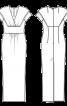 Сукня вечірня обтислого крою - фото 3