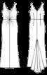 Сукня максі зі шлейфом і драпіровками - фото 3