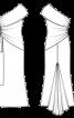 Сукня вечірня з відкритим плечем - фото 3