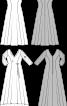 Сукня довга розкльошеного крою - фото 3