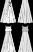 Сукня вечірня силуету ампір із розкльошеною спідницею - фото 3