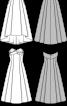 Сукня-бюстьє із драпірованим ліфом - фото 3