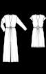 Сукня трикотажна з глибоким вирізом - фото 3