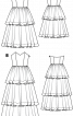 Сукня весільна довга із багатоярусною спідницею - фото 3