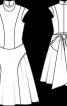 Сукня весільна з коміром-стойкою і великим бантом на спідниці - фото 3