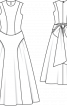 Сукня весільна довга в стилі 50-х - фото 3