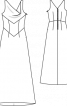 Сукня весільна із драпірованою горловиною - фото 3