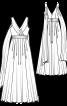 Сукня в грецькому стилі з довгою спідницею - фото 3