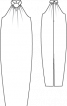 Сукня весільна довга з американською проймою - фото 3