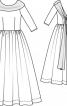 Сукня весільна довга з широким коміром - фото 3