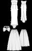 Сукня весільна зі шлейфом і верхньою спідницею - фото 3