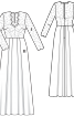 Сукня довга з корсажем і широкою спідницею - фото 3