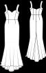 Сукня довга силуету «русалка» - фото 3