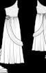 Сукня весільна асиметричного крою зі шлейфом - фото 3
