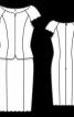Сукня-футляр з суцільнокроєною з передом баскою - фото 3