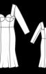 Весільна сукня з серцеподібним вирізом - фото 3