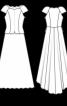 Сукня з баскою і шлейфом - фото 3