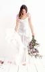 Романтична довга сукня з рукавами-крильцями - фото 1