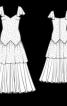Романтична довга сукня з рукавами-крильцями - фото 3
