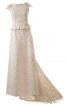 Сукня з баскою і шлейфом - фото 2