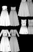 Сукня-бюстьє весільна з мереживним верхом - фото 3