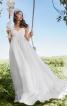 Сукня максі силуету ампір на бретелях-спагеті - фото 1