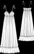 Сукня максі силуету ампір на бретелях-спагеті - фото 3
