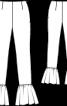 Брюки вузького крою з оборками по нижньому краю - фото 3