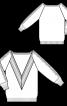 В'язаний пуловер з V-подібною горловиною - фото 3