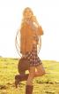 Жакет замшевий з широкими лацканами - фото 1