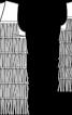 Жилет замшевий з каскадом бахроми - фото 3