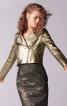 Жакет байкерський зі шкіри металік - фото 1
